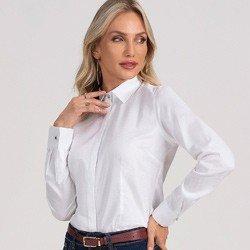 camisa social feminina branca hanna detalhe