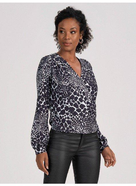 camisa transpassada animalprint idalina 2