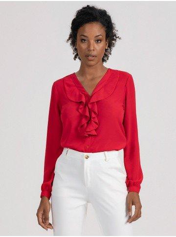 camisa vermelha babados isis 2