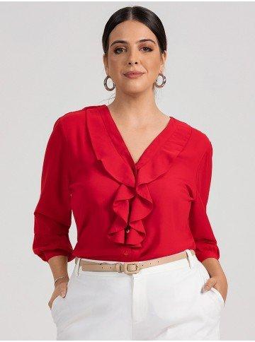 camisa vermelha babados isis plus 2