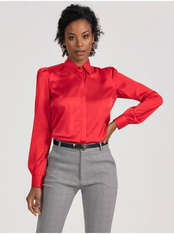 camisa vermelha cetim iracema 2