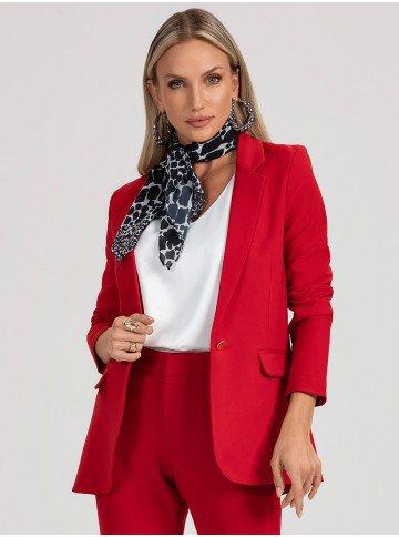 blazer feminino vermelho carmo look