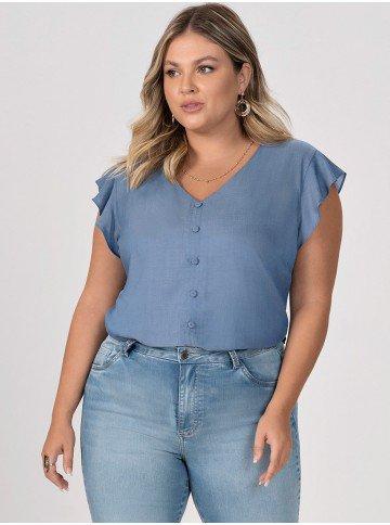 blusa azul esme plus 1