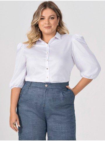 camisa branca manga bufante elmira plus 2