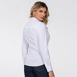 camisa feminina branca manga longa jamile detalhe costas