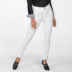 calca feminina de sarja branca justina frente