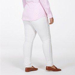 calca feminina plus size de sarja off white justina costas