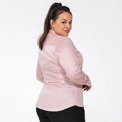 camisa rose amber costas detalhe plus