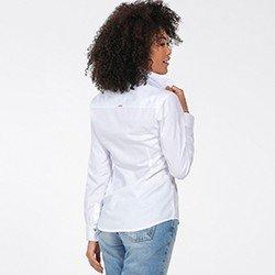 camisa oxford feminina branca nancy costas