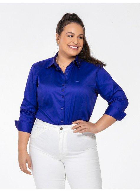 camisa azul royal plus perfil frente rgb