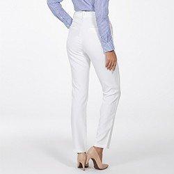 calca de alfaiataria reta off white delany costas mini