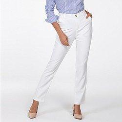 calca de alfaiataria reta off white delany frente mini