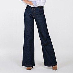 calca jeans pantalona helo mini frente
