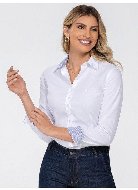 camisa social feminina branca principessa jamile