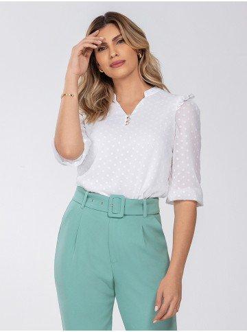 blusa feminina off white kendall frente