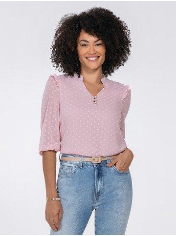 blusa feminina rosa katherine frente