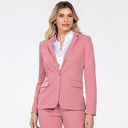 blazer rosa alfaiataria katlin