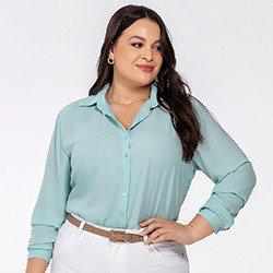 camisa crepe azul kailany