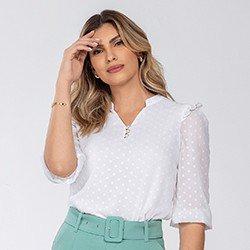 blusa feminina com babados kesia mini
