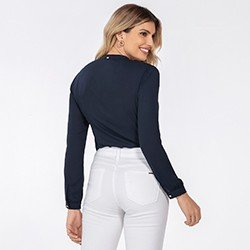 blusa feminina marinho kauane mini costas