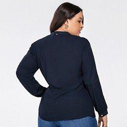 blusa feminina marinho kauane mini costas plus