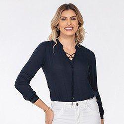 blusa feminina marinho kauane mini frente