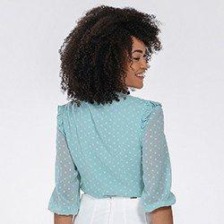 blusa feminina com babados kesia mini costass