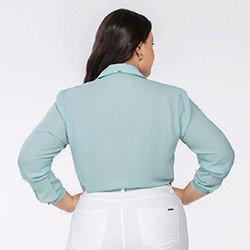 camisa feminina manga longa kailany mini costas plus