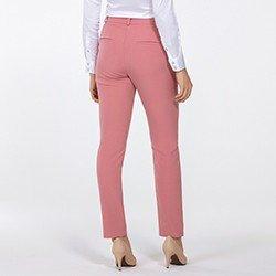 calca feminina de alfaiataria rosa kassia mini costas