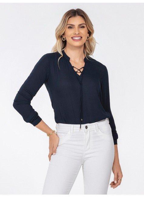 blusa feminina marinho kauane frente