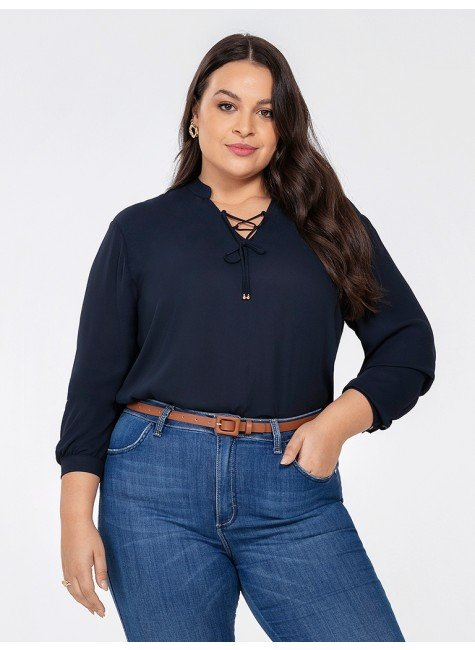 blusa feminina marinho kauane frente plus