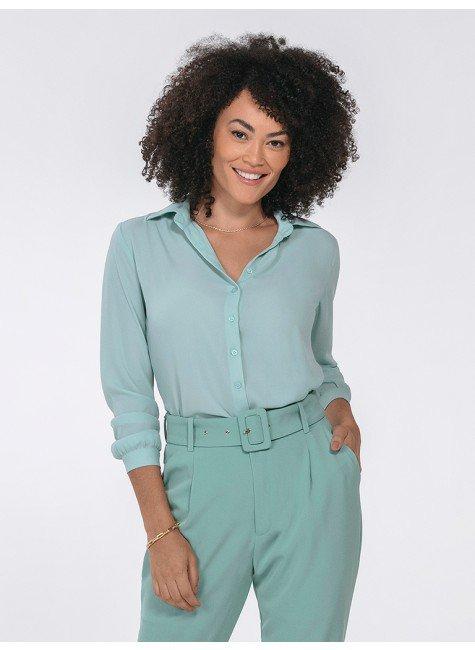 camisa feminina manga longa kailany frente