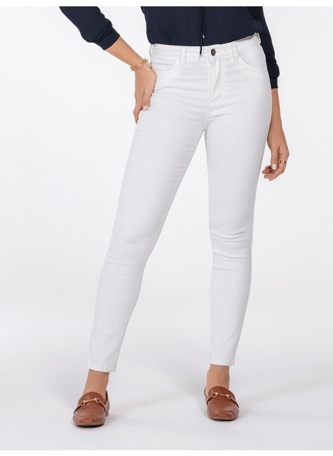 calca feminina de sarja off white justina frente