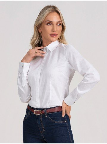 camisa branca manga longa hanna frente