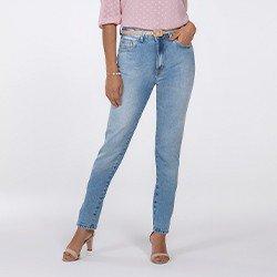 calca jeans modelo mom evelize frente mini