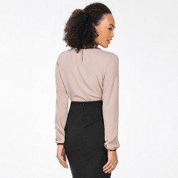 blusa manga longa nude leandra mini costas