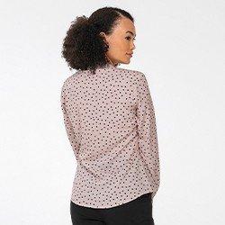 camisa manga longa de poa lizete mini costas