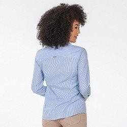 camisa social listrada na diagonal lisiane costasmini