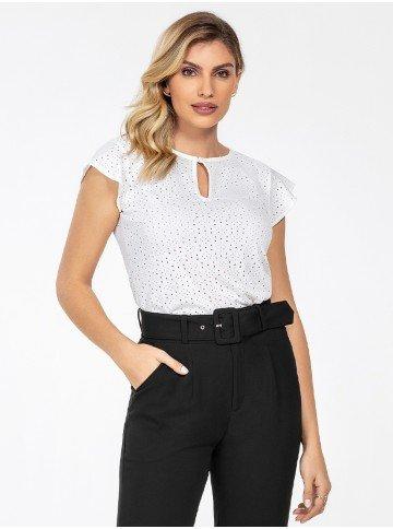 blusa de laise off white samira frente