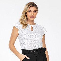 blusa de laise off white samira costas mini