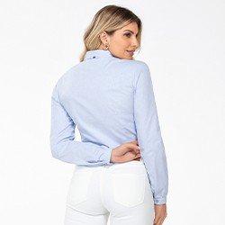 camisa azul claro manga longa bufante magda costas mini