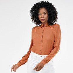 camisa feminina manga longa com renda natalie mini costas