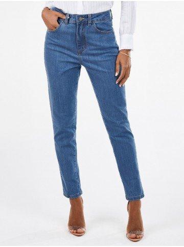 calca jeans feminina mom cintura media sarita frente 2