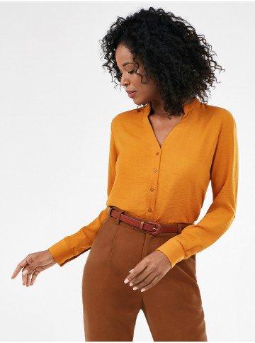 camisa mostarda manga longa iolanda frente