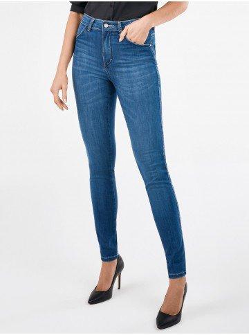 calca jeans skinny cintura media rosie frente