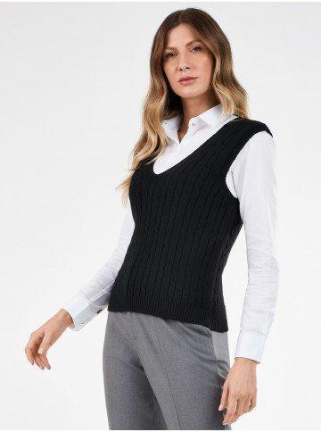 colete trico preto hendrix frente