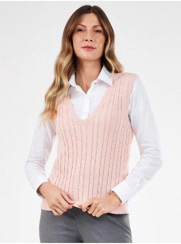 colete trico rose hedviges frente