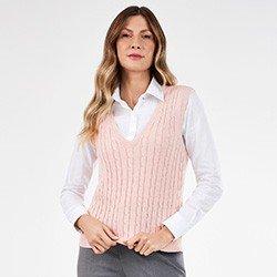 colete trico rose hedviges frente mini