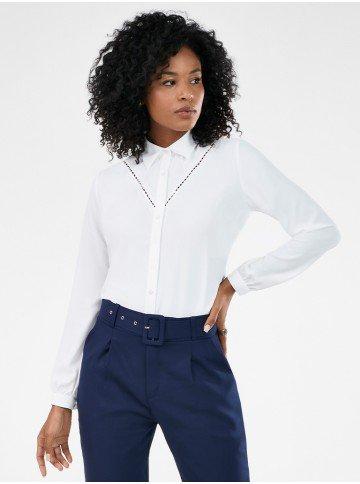 camisa manga longa feminina com renda olga frente