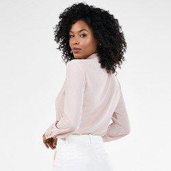camisa rose feminina com renda olimpia costas mini